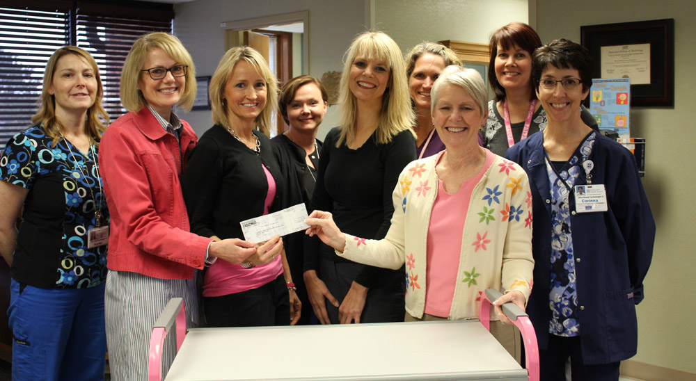 Cart for the Cure $2000 Donation in 2014, Hogenkamp & Williamson Present