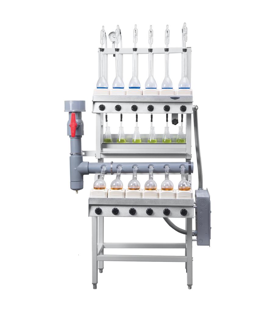 Six-Place Combination Kjeldahl Apparatus