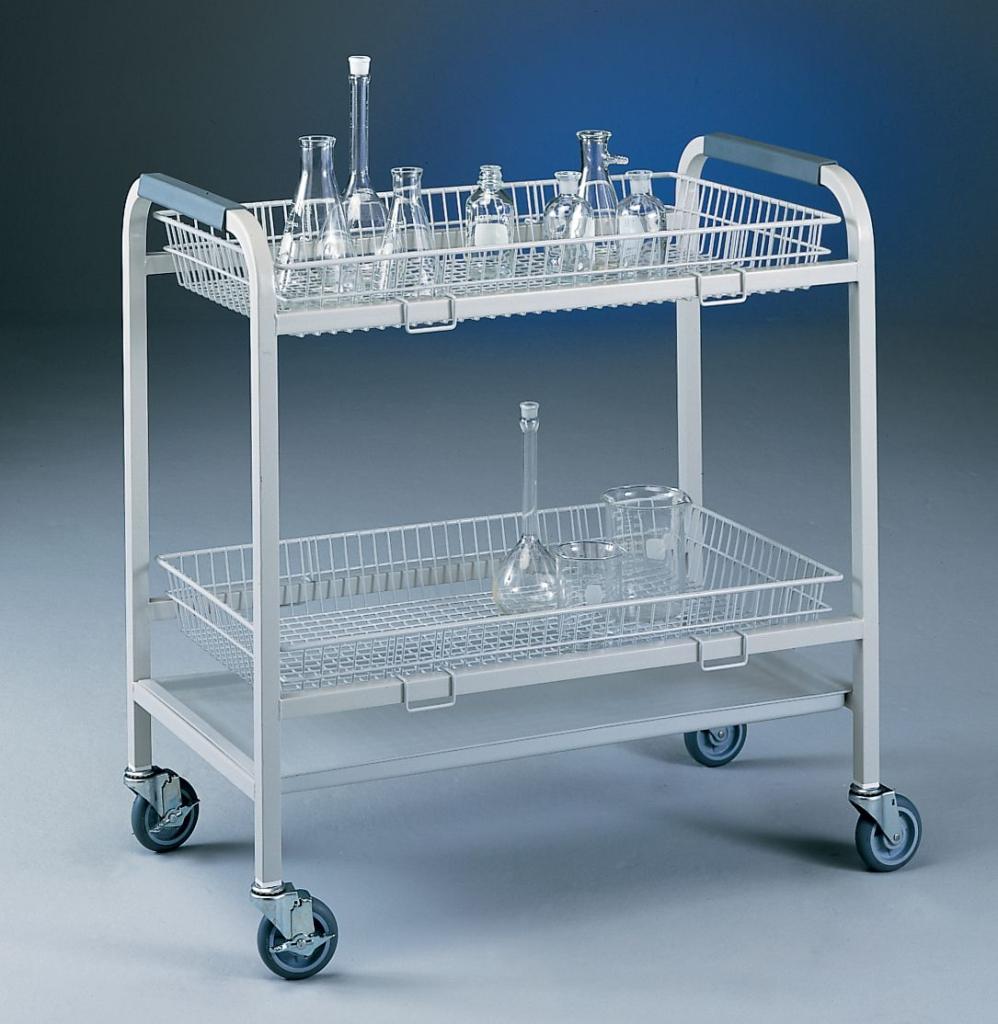 2-Basket Glassware Cart
