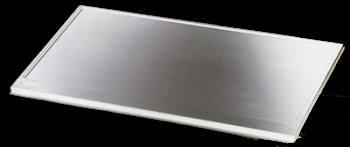 """2' Gray Solid Epoxy Dished Work Surface, 24"""" w x 29"""" d x 1"""" thick"""