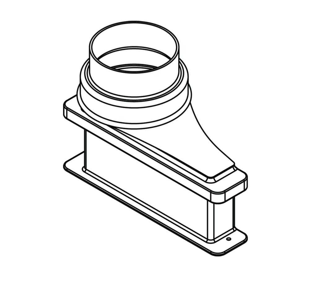 lower exhaust transition adapter  5 u0026quot  diameter