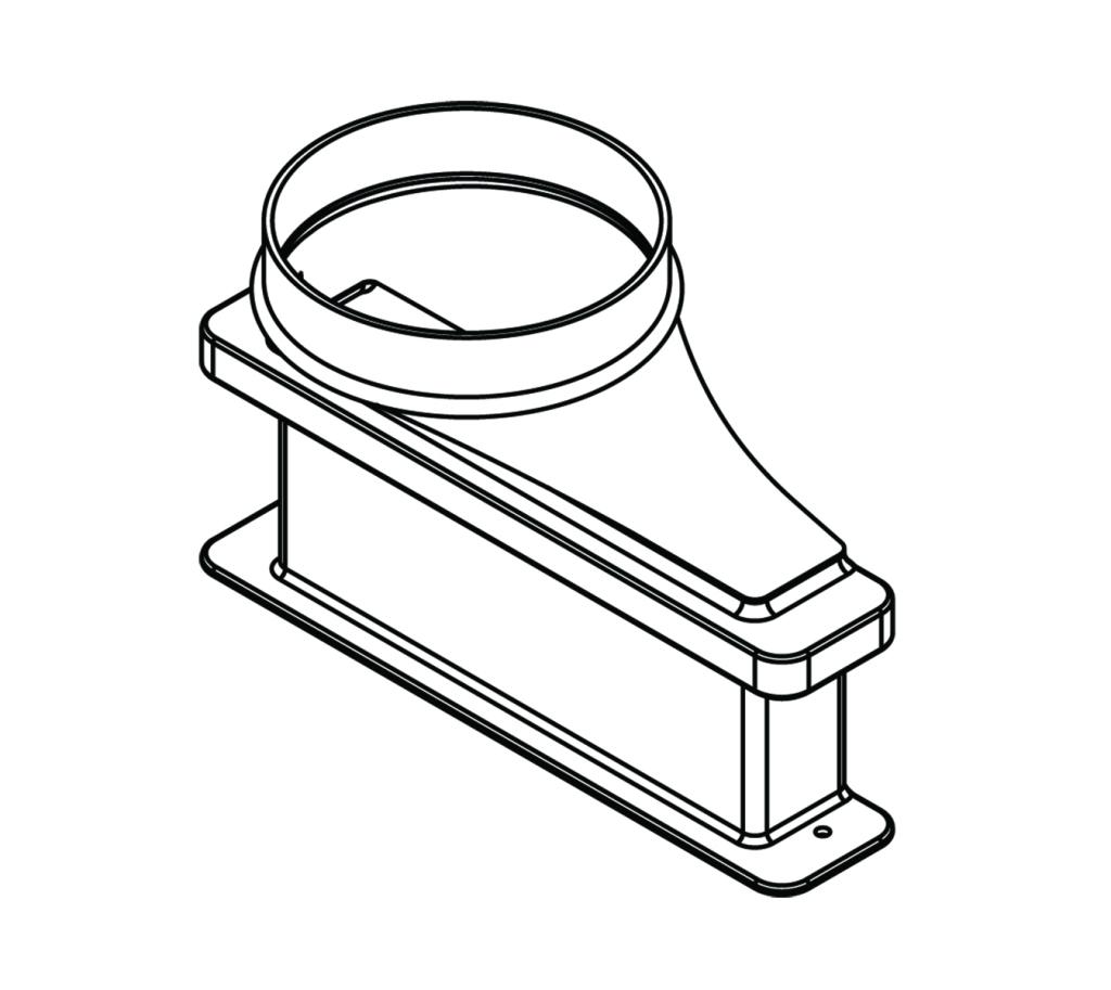 lower exhaust transition adapter  6 u0026quot  diameter