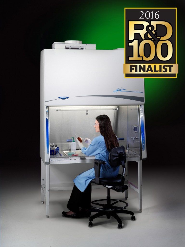 Axiom with R&D 100 2016 Awards Finalist Logo and model