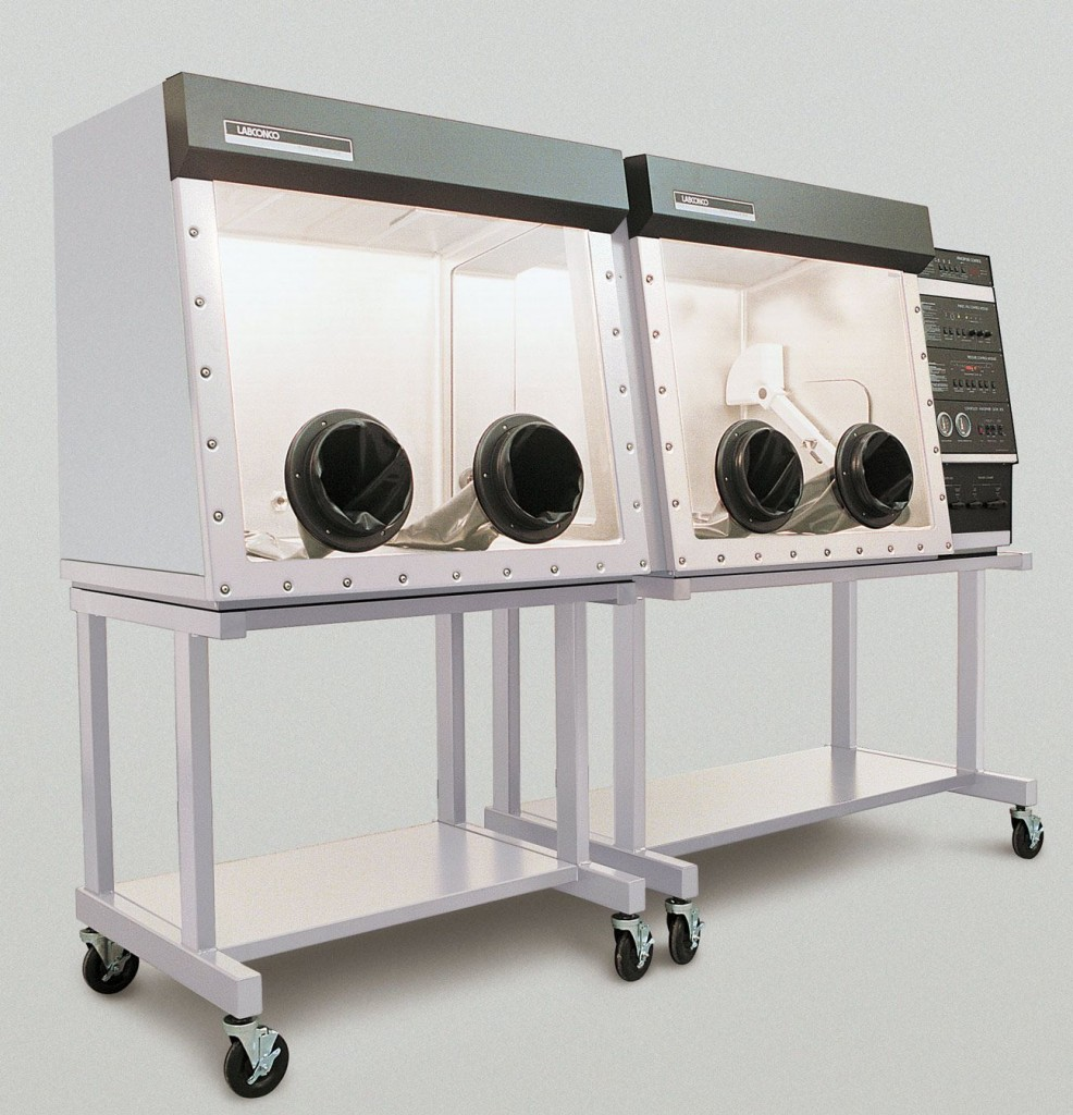 Protector Stainless Steel Double Controlled Atmosphere Glove Box