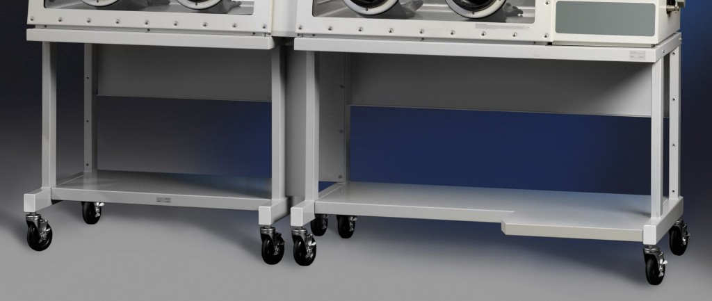 Double Glove Box Mobile Base Stand