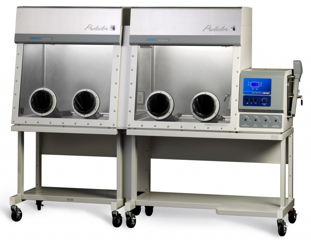 Protector Stainless Steel Double Controlled Atmosphere Glove Box with Auto Pressure Control