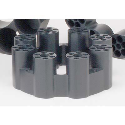 13 x 100 mm OD Sample Tube Teflon-Coated Aluminum Block