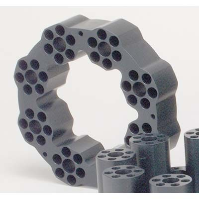 16 x 150 mm OD Sample Tube Teflon-Coated Aluminum Block