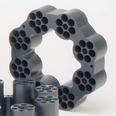 20 x 150 mm OD Sample Tube Teflon-Coated Aluminum Block