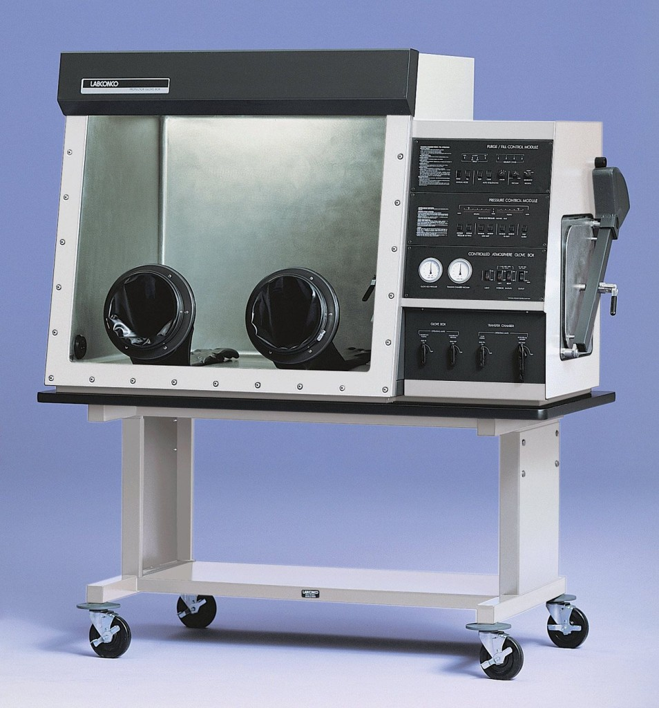 Protector Stainless Steel Controlled Atmosphere Glove Box with Pressure Control Module, Auto Purge/Fill Sequencer and Foot Pedal