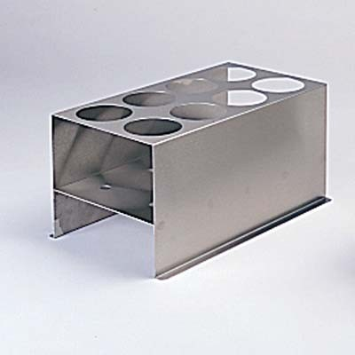Eight-Place Stainless Steel Rack for 600 ml Tubes