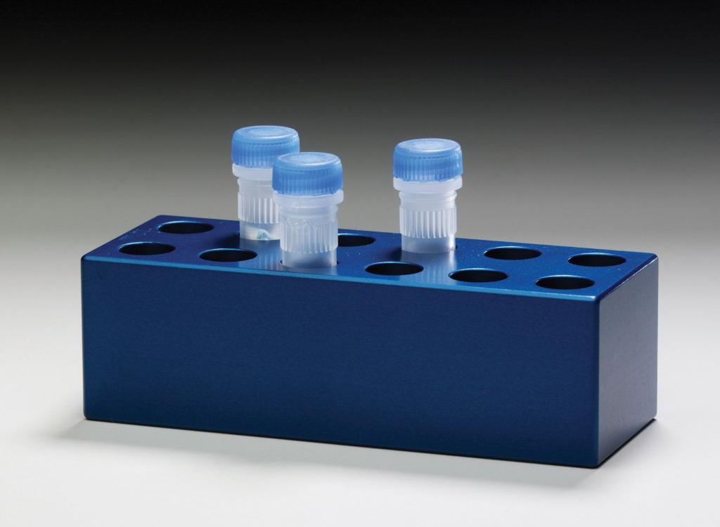 50 ml round, 28 mm Aluminum Tube Racks (4 tubes)