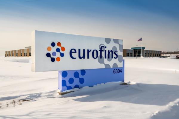 Eurofins Sign in Winter