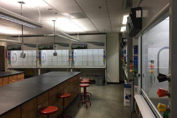 Echo Fume Hoods in ZNE Laboratory