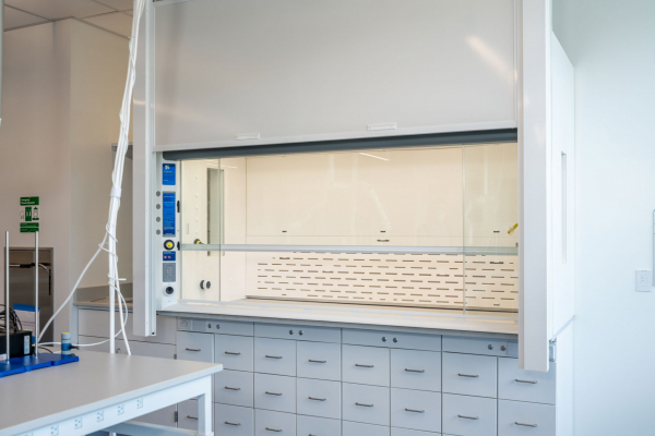 Chaney-Hale Hall with Protector XL customized fume hood