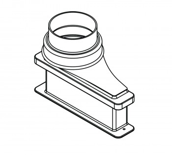 Lower Duct Exhaust Transition Adapter for 5 inch diameter connection 3912402