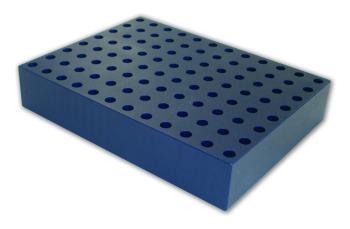 0.5 ml microcentrifuge, 7.5 mm Aluminum Tube Rack (96 tubes)