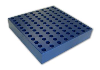 1.5 ml microcentrifuge, 10.5 mm Aluminum Tube Rack (96 tubes)