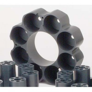 8 Tube Capacity Teflon-Coated Aluminum Blocks for RapidVap N2/48 Evaporation Systems