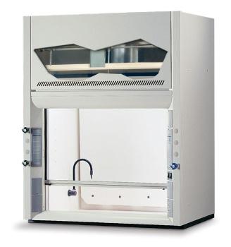 8' Protector PVC Acid Digestion Laboratory Hood, 2 Fixtures, 2 Receptacles, 115V