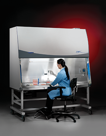 6-foot Logic Plus biosafety cabinet in use