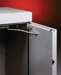 Locking Mechanism On Solvent Storage Cabinet, A Vented Chemical Storage  Cabinet