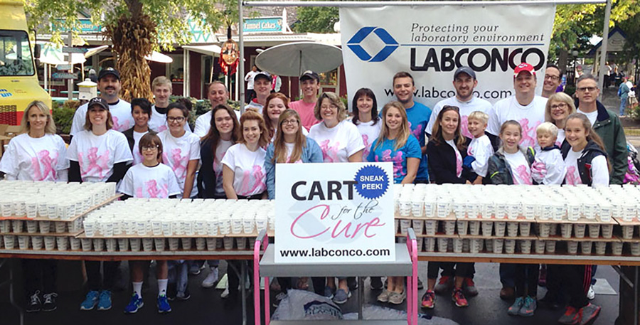Cart for the Cure Labconco Crew