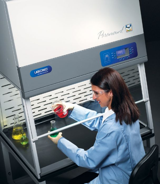 Ductless fume hoods such as Paramount Ductless Enclosures are filtered fume hoods that can be portable between labs.