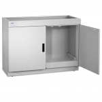 Protector Standard Storage Base Cabinet with Dual Doors Open