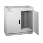 Protector Acid Storage Base Cabinet with Dual Doors Open