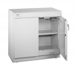 Protector Solvent Storage Base Cabinet with Dual Doors Open