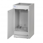 Protector Vacuum Pump Storage Base Cabinet with Door Open