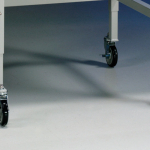 Casters on a Telescoping Base Stand