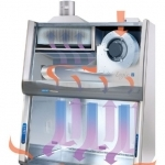 4' Purifier Cell Logic+, Class II B2 with Temp-Zone, UV Light, Service Fixture, Vacu-Pass Portal and Base Stand
