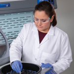 CentriVap Benchtop Vacuum Concentrator with Scientist