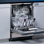 Undercounter FlaskScrubber Glassware Washer with Viewing Window and Light
