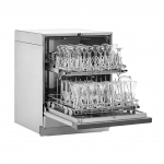 FlaskScrubber Glassware Washer, Open with Upper Rack and Glassware