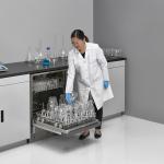 Undercounter FlaskScrubber Glassware Washer, with Scientist Loading Glassware