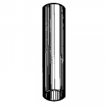"""Stainless Steel Straight Adapter, 1/2"""" Flask Top to 1/2"""" Valve"""