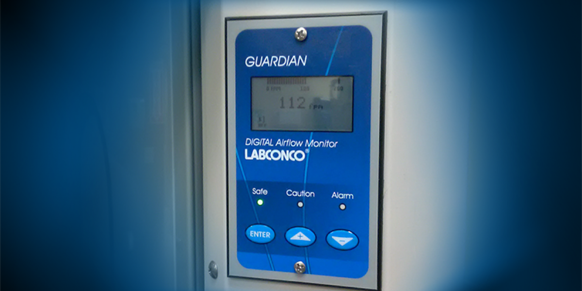 Digital Airflow Monitor on Fume Hood