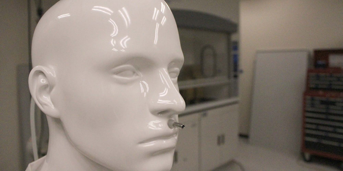 Mannequin in Airflow Test Lab for ASHRAE Testing