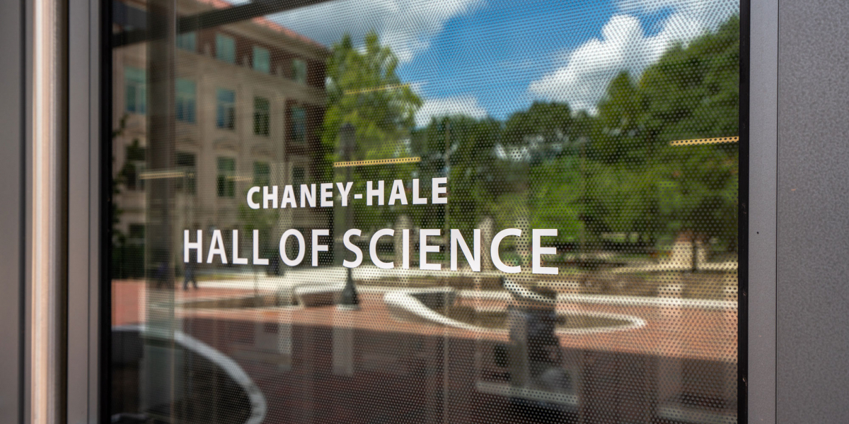 Chaney-Hale Hall of Science Entrance Door Signage